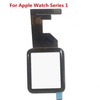 38mm 42mm Black Front Touch Screen Touch Panel Front Glass Lens Digitizer Replacement For Apple Watch Series 1 image