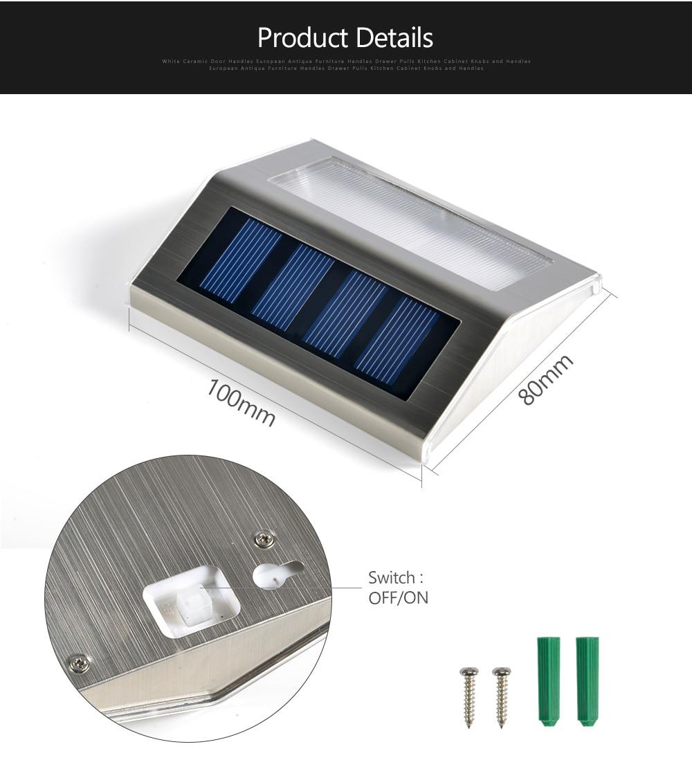 10 peças Luzes Passo Solar Movido A