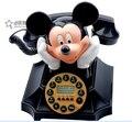 Mickey y Minnie de la casa de moda teléfono antiguo Identificador de llamadas de telefones para casa telefono de línea fija de teléfono fijo teléfono de su casa