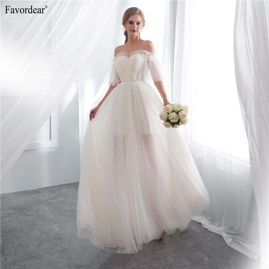 Favordear 100 Real Photos 2019 Vestido De Noiva Formal Women s Long Off The Shoulder Wedding