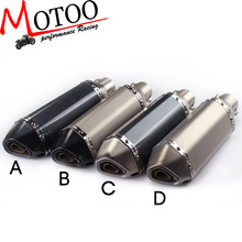 Motoo - Universal 36-51mm Motorcycle exhaust Modified Scooter Exhaust Muffle GY6 for HONDA R1 R3 R6 FZ6  ATV  Dirt bike exhaust