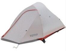FLYTOP Ultralight Camping Tenten 1-2 Persoon Aluminium Pole 20D Silicon Waterdichte Outdoor Jacht Vissen Toeristische Wandelen T
