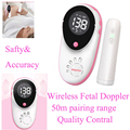 Wireless Fetal Doppler Baby Heart Monitor LCD Display Round Large Screen 50m Range Safty Prenatal Monitor