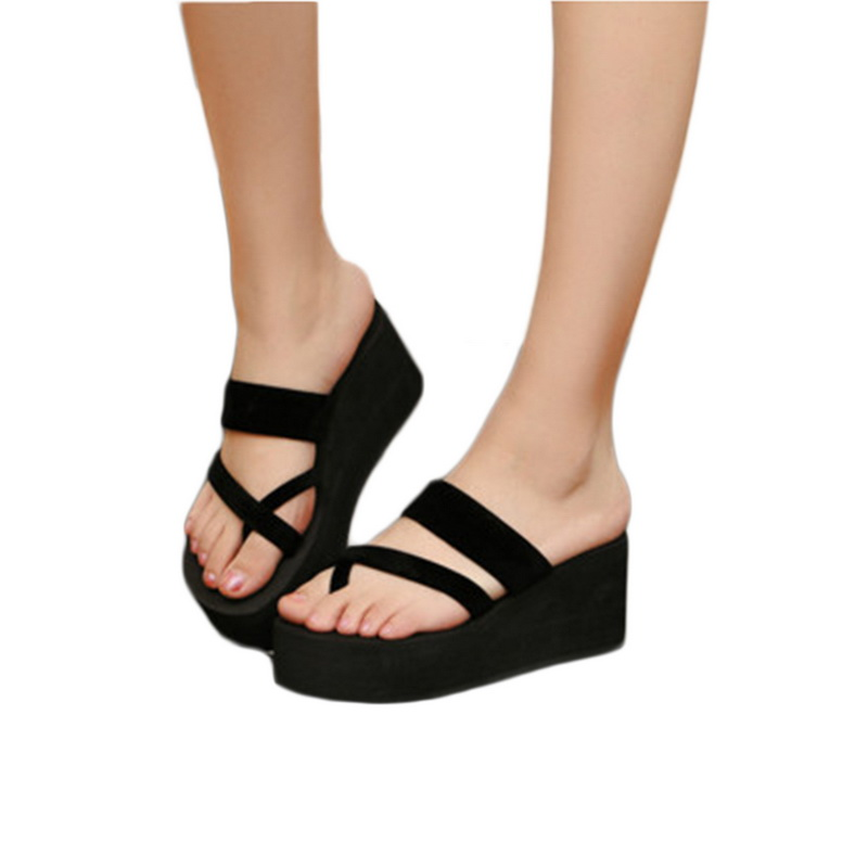 WENYUJH Platform Sandals In High Heels Shoes Woman Sandalie Summer Wedge Sandals Straped Slippers Beach Flip Flops Slides Women 6cm high heels women slides ladies slippers sandals flips flops 2018 summer beach platform shoes woman fashion comfortable flats page 8