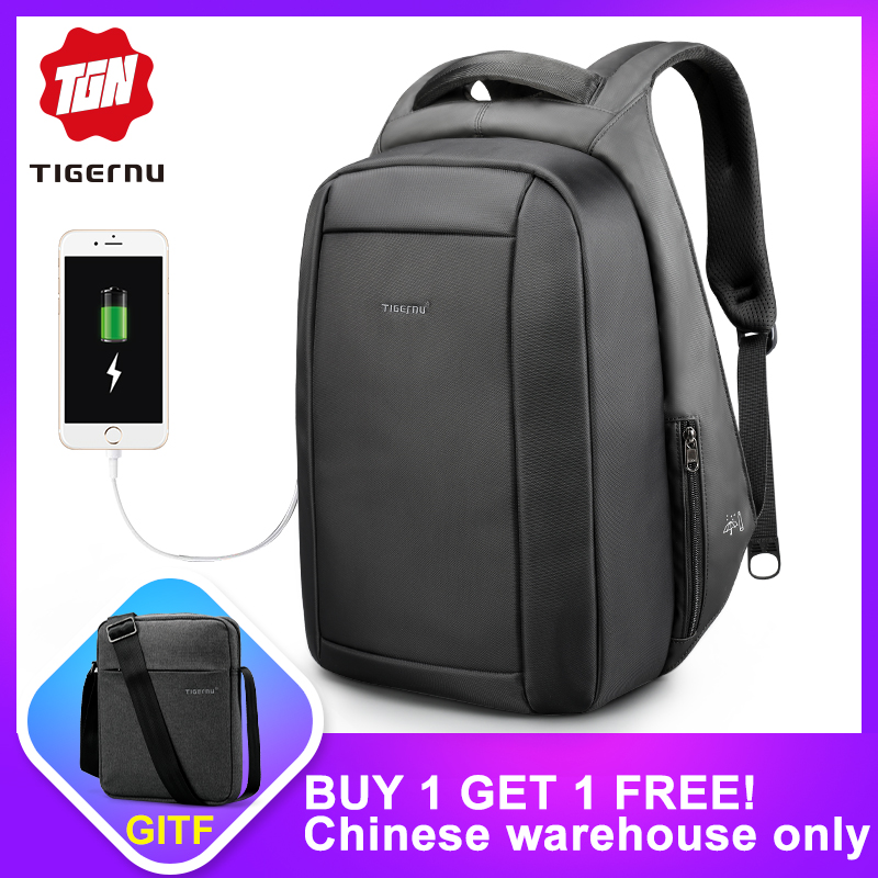 c19254603a Tigernu Waterproof Anti Theft Male Mochila 15.6inch Laptop Backpack Men USB  Backpacks School bags Bagpack