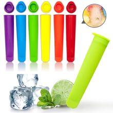 6pcs Silicone Popsicle Makers Summer Frozen Ice Cream Stick Pop Mold Lolly Mould DIY Kitchen Tool