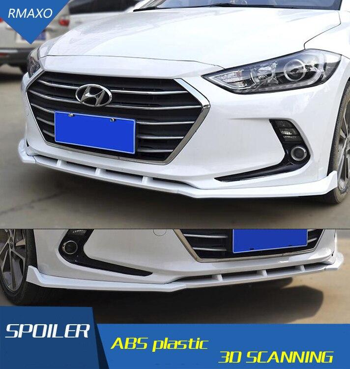 For Elantra Rear spoiler ABS Rear front Bumper Diffuser Bumpers Protector For Elantra 2016 Rear After