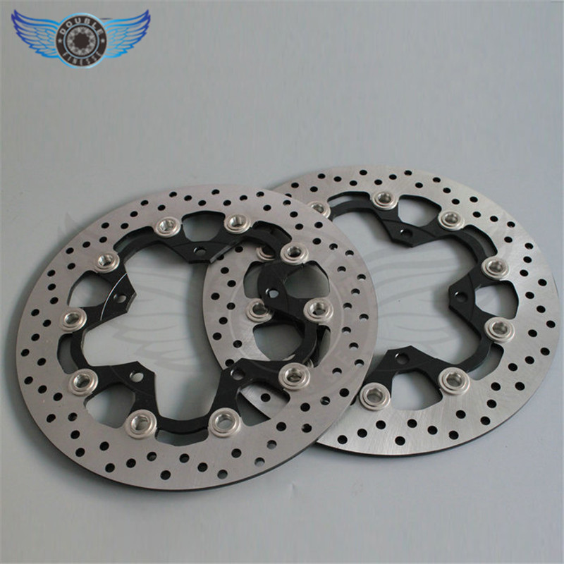 high quality 2 pieces  motorcycle accessories Front Brake Disc Rotor for SUZUKI GSX1300R HAYABUSA 2008 2009 2010 2011 2012 2013 1 pcs motorcycle rear brake rotor disc braking disk for suzuki b king bking 1300 2008 2010 gsx1300r gsx 1300r hayabusa 2008 2011