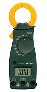VC3266A digital clamp meter Current 600A, AC / DC voltage, 3 1/2 digit display, maximum reading 1999  vc6056d digital ac dc clamp meter 600a refrigerant special
