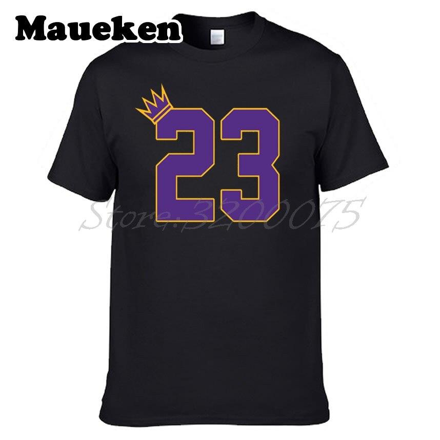Men King GOAT 23 LeBron James T-shirt Los Angeles LA Cleveland Clothes T Shirt Mens tshirt for Lakers fans tee W18052105 ...