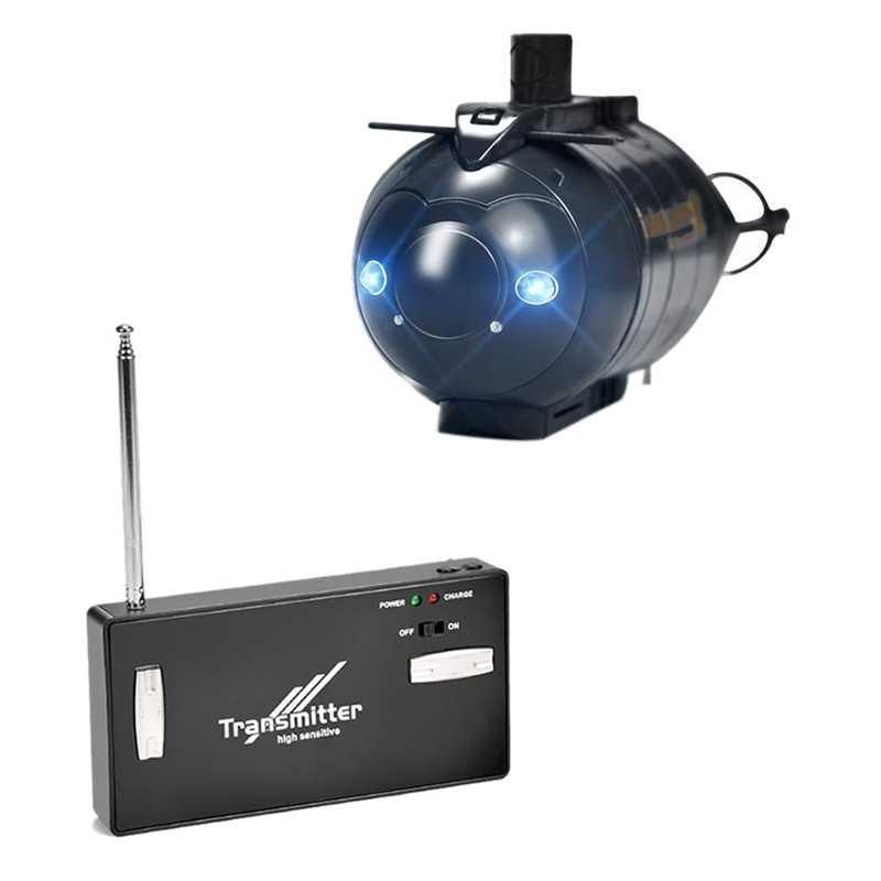 Mini Control remoto submarino inalámbrico Control remoto submarino Barco de Control remoto juguete de Control remoto bote salvavidas no tripulado Simul