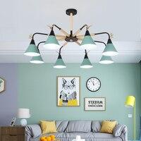 Fanlive Скандинавское освещение люстра деревянная индивидуальность современный минималистичный Стиль Спальня лампа Ресторан свет macarons chandelie