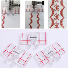 Simple Mini Clear Plastic Parallel Stitch Foot Presser for Multifunction Domestic Sewing Machine Tool