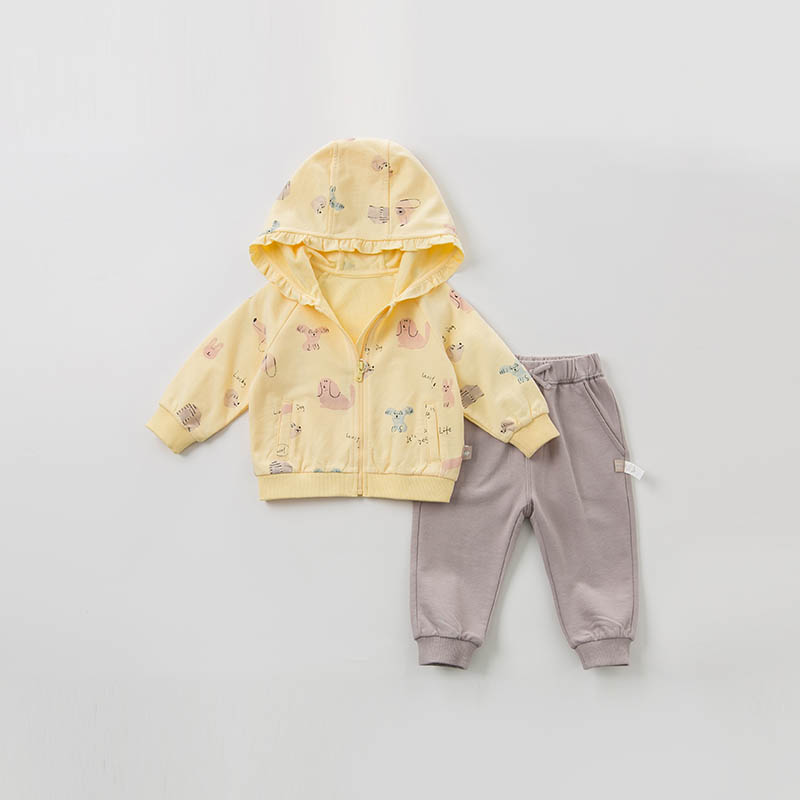 Image 2 - DBZ10118 dave bella spring baby girl fashion clothing sets girls  lovely long sleeve suits childrenClothing Sets