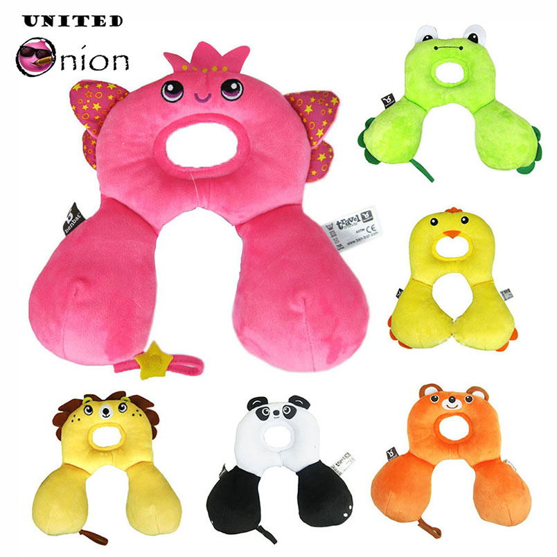 29*19 Cm 0-12 Months Newborn Baby Infant Safety U Shape Memory Pillow Neck Protection Toy Travel Car Seat Cute Animal Soft Child