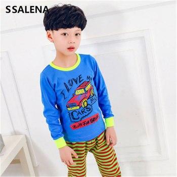 52800fc3 Pijamas de los niños conjunto de niños coche pijamas de dibujos animados de  algodón de las niñas lindo ropa de dormir de los niños establece pijamas  familia ...