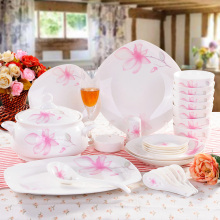 The 56 Jingdezhen bowl set head Teyou bowl dish spoon bone china tableware Suit Wedding Gifts