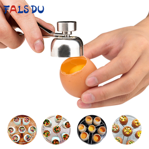 1 Pcs Metal Egg Scissors 304 Stainless Steel Topper Shell Cutter Opener Boiled Raw Egg Open Creative Kitchen Tool(China)