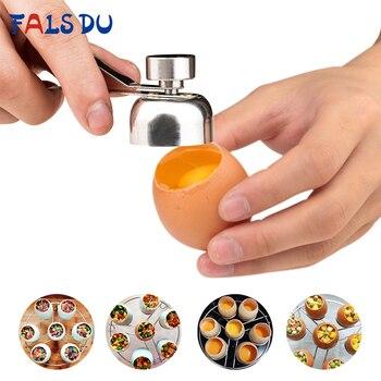 Έξυπνο Ανοιχτήρι Για Ωμά Ή Βρασμένα Αυγά Ανοξείδωτο Ατσάλι 304 Δημιουργικό εργαλείο
