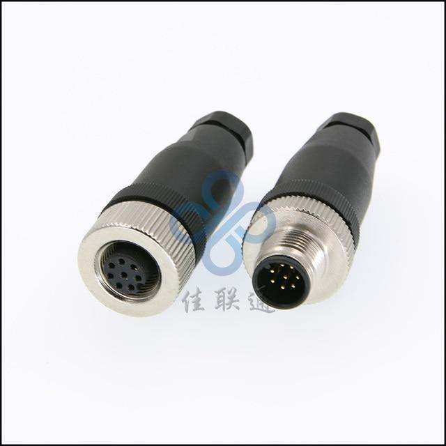 aliexpress com buy m12 circular waterproof aviation connector m12 circular waterproof aviation connector plug socket 4 5 8 12 pin sensor connector