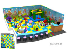 Exported to Canada Free Design Indoor Play System Children Playground 151224b(China)