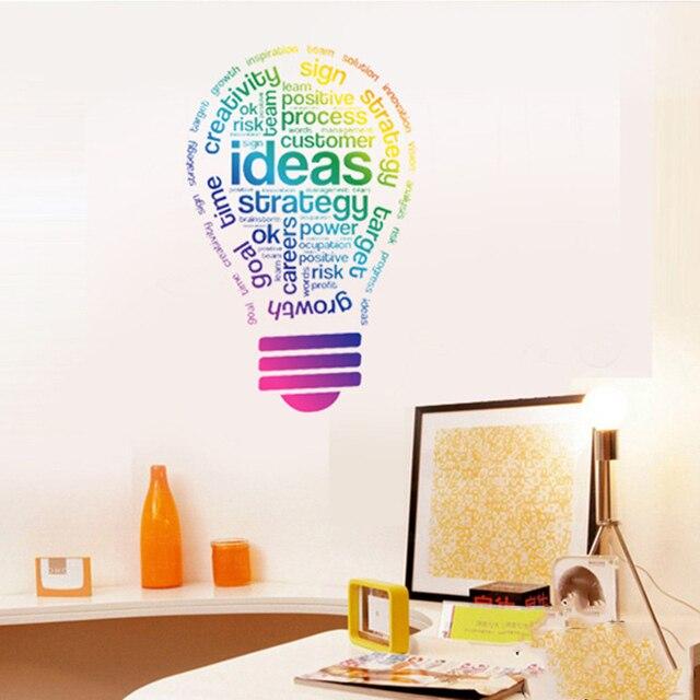 Criativo Colorido Do Projeto Da Arte Palavras Adesivos De Parede Home Decor  Vinil Boas Ideias Estudo