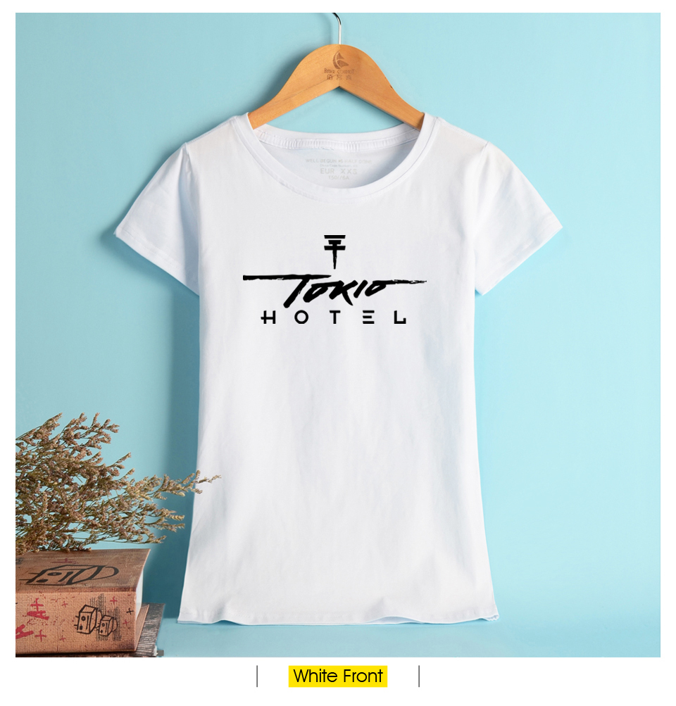 NEW Tokio Hotel Black T Shirt Women Summer German Rock Band Tee Shirt  Cotton Fashion Fashion Casual Comfortable Female T Shirt