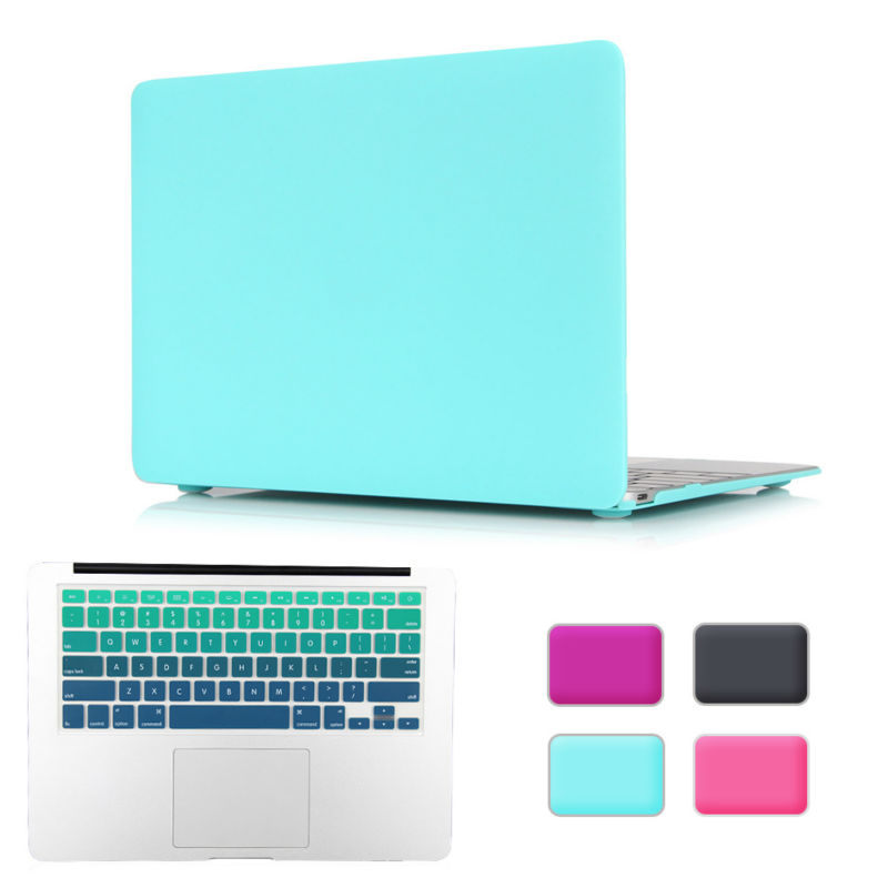 "Rubberen matte laptop case cover voor Macbook Air 13 Mac Book 2018 Retina Pro 13 15 ""Touch bar A1989 A1990 + Keyboard Cover"