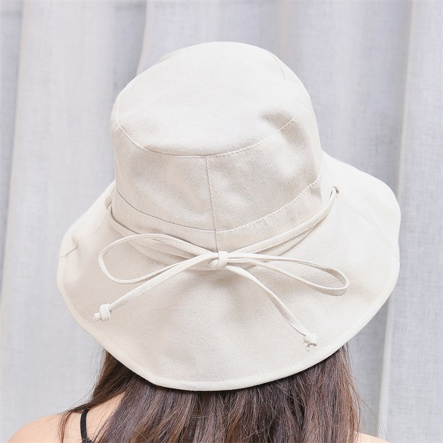 5489f7afbd4 2018 Summer Solid Flat Chic Cotton Bucket Hat with Bowknot Women Vintage  Street Fisherman Caps Harajuku