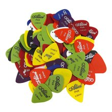 100pcs Matte ABS Guitar Bass Picks 0.58 0.71 0.81mm Guitar Picks Alice 100Q