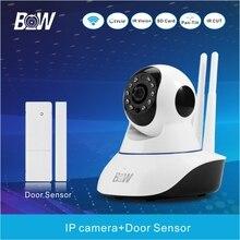 Hogar Equipo de Monitor de Cámara IP con Sensor de La Puerta Ventana Del Sensor de Alarma P2P Megapíxeles Full HD 3mp CCTV Cámara de Vídeo vigilancia