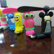 SIANCS Mini Cute cartoon 8 Pin Micro usb Flexible Mini Fans for Samsung Xiaomi Android Phone Hand Fan for iPhone 5 6 6s 7 7 plus