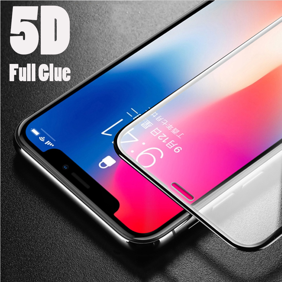 Cellphones & Telecommunications Phone Screen Protectors 5d Protective Glass On For Iphone 6 7 X Screen Protector For Iphone 6 6s 7 8 Plus 10 7plus 8plus Safety Gorilla Glass Pelicula