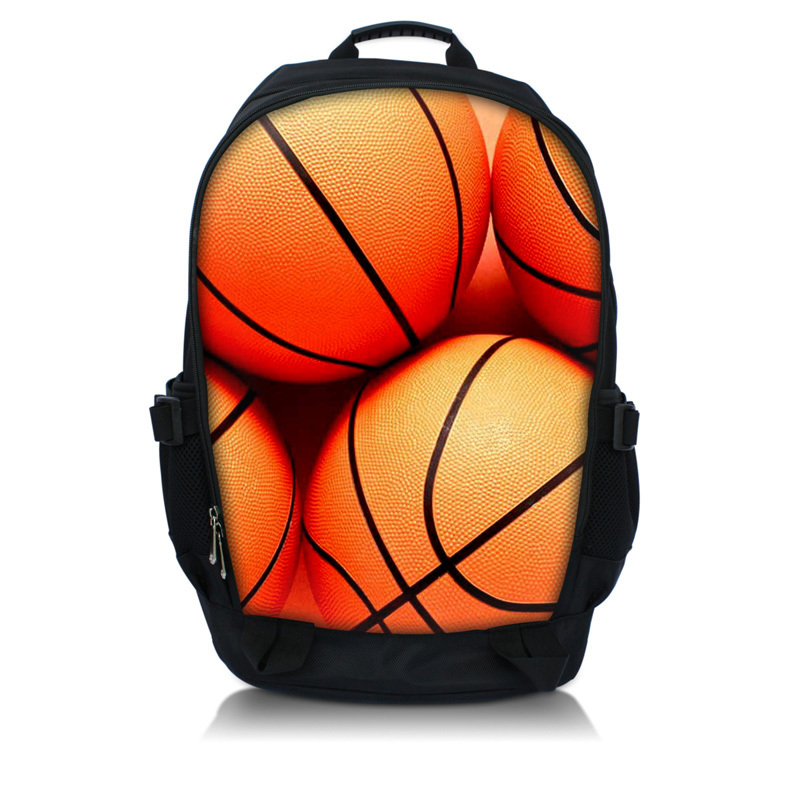 Free Shipping Basketball 15.6 Laptop Notebook Tablet PC Backpack College School Book Backpack Travel Bag,Free Shipping
