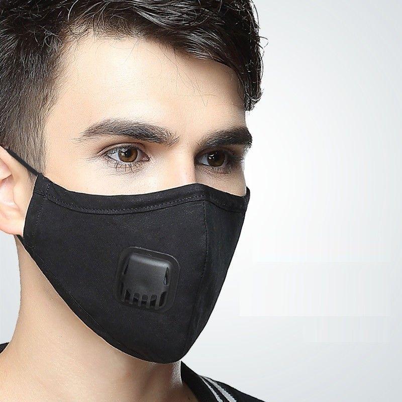 Frauen Mode Anti-staub Nebel Baumwolle Mund Gesicht Maske Atmungs Atemschutz Männer Outdoor Pm2.5 Atmung Gesundheit Ventil Masken C264 Masken Bekleidung Zubehör
