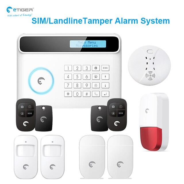 Lovely eTIGER pletely Protect APP Control Sim Landline Tamper Alarm System Motion Window Door Detector New Design - Luxury outdoor motion sensor alarm Inspirational
