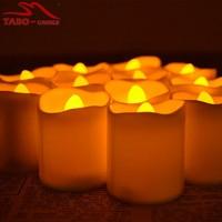 Led Tealight Candles Wholesale Yellow Flikering Candle for Wedding Decoration Set of 12 Pcs