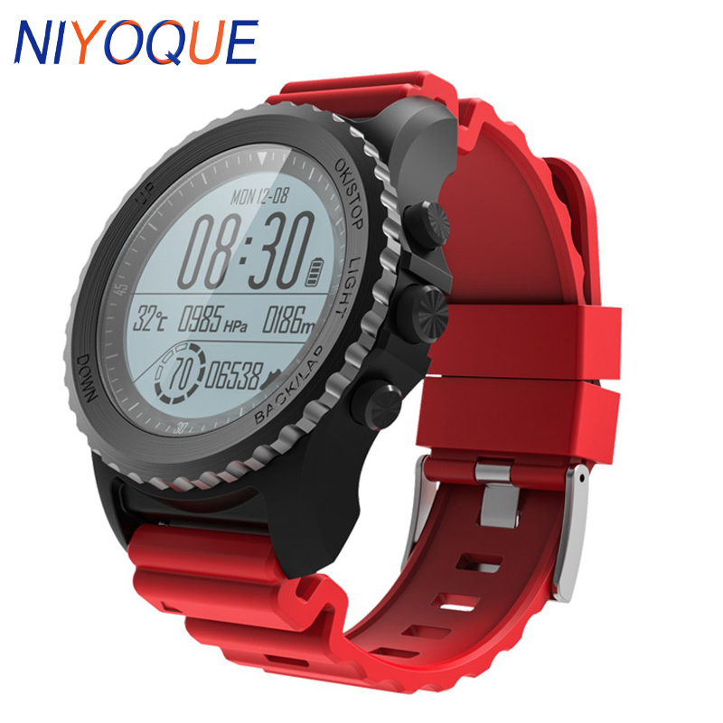 S968 GPS Sport Smart Watch IP68 Waterproof Heart Rate Monitor Barometer Thermometer Altimeter Dynamic Multi-sport Men Watch