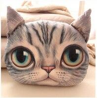 2016NEW 100% Bawełna 3D Cute Cat Poduszka Poduszki Z Wypełnieniem Wypchane Zabawki Śmieszne Pluszowe Standardowy Christmas Present 40*38 cm