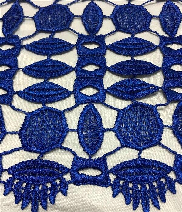 Gorąca sprzedaż wspaniały geometryczny rysunek Design czysty kolor rozpuszczalne w wodzie koronki ZW1, dobrej jakości i bezpłatna wysyłka afryki koronki tkaniny w Koronka od Dom i ogród na  Grupa 2