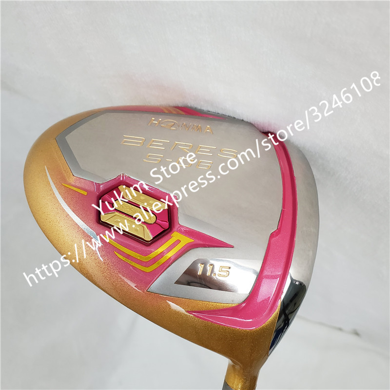 New Women Golf Clubs HONMA S-06 4 Star Gold Color Golf Driver 11.5 Loft Graphite L Flex Driver Clubs Free Shipping