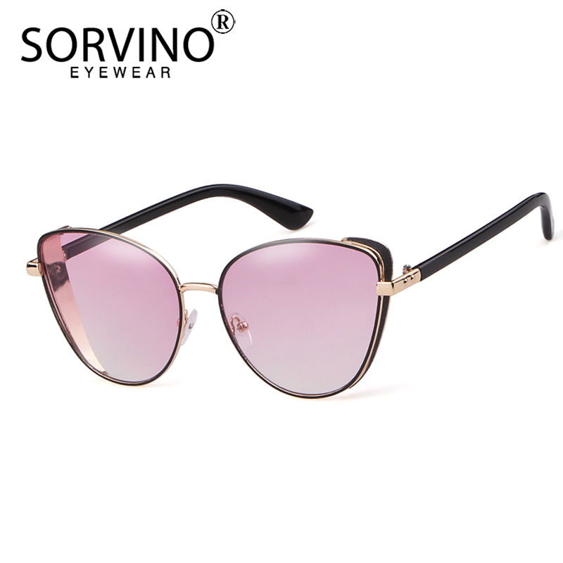 Sorvino Vintage Shades For Women 2019 Cat Eye Sunglasses Luxury Brand Designer Fashion Womens Pink Blue Cateye Sun Glasses Sp312 Top Watermelons Women's Sunglasses