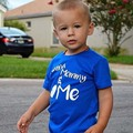 T-shirts for Boys Neat Kid T-shirt Baby Roupa Infantil T Shirt Child letter Clothes Blue Boys Tops Baby T Shirts blue color