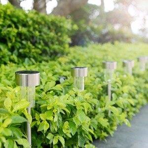 Image 3 - LED lampy ogrodowe na energię słoneczną na zewnątrz lampa zasilana energią słoneczną latarnia wodoodporna oświetlenie krajobrazu na szlaku Patio, ogródek dekoracja trawnika