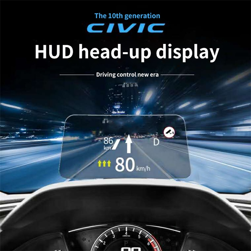 for Honda Civic 10th HUD head up display system multi-functional special car special use overspeed warning security alarm