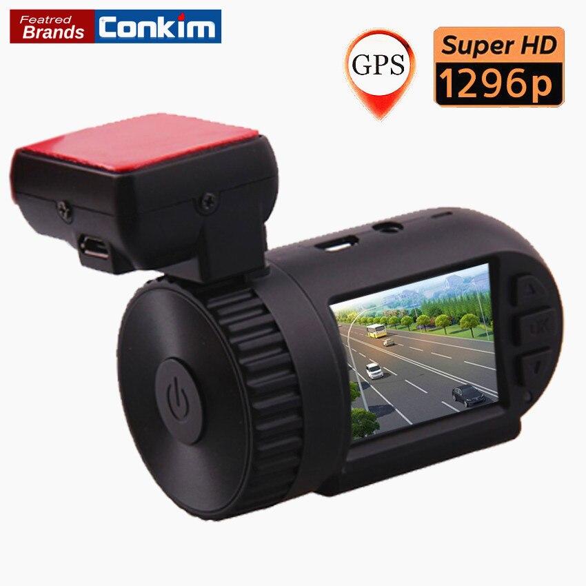 Conkim Dash Cam Ambarella A7LA50 Super HD 1296P Mini 0805 Auto Car DVR Camera Recorder GPS Logger+G-SENSOR+WDR/HDR+ LDWS dealcoo car dvr ambarella a7l50 car video recorder dash cam full hd 1296p 30fps 2 7 lcd g sensor hdr h 264 car camera gps gs90a