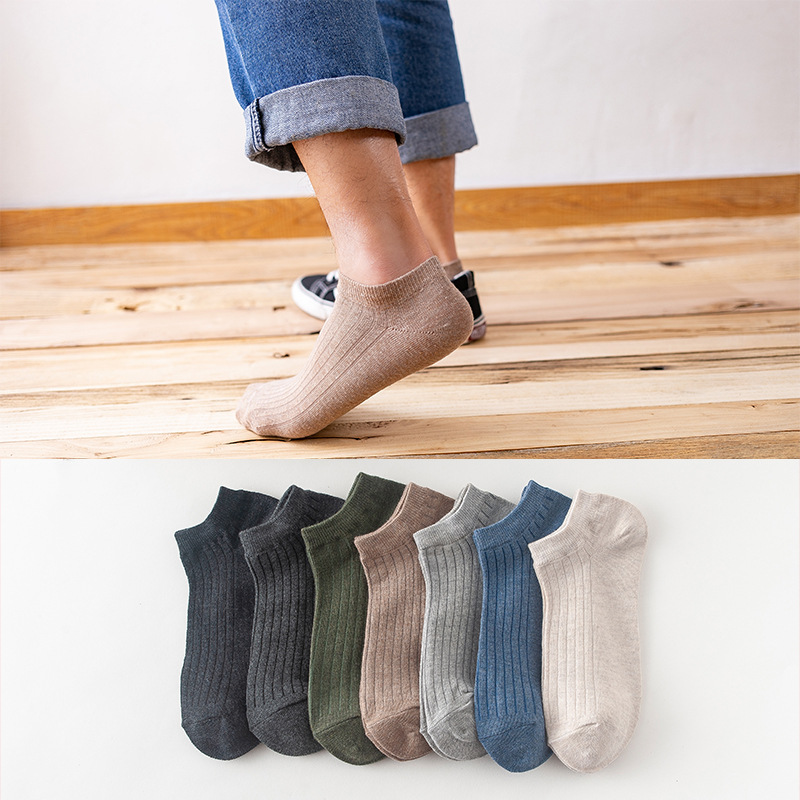 10pcs=5Pairs/lot Men Boat Socks Summer Autumn Casual Soft Black Coffee Invisible Cotton Socks Male Ankle Sock Slippers Meia