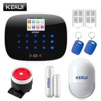 Fire Smoke Detector Door Gap Sensor Alarm KERUI G19 GSM SMS RFID Voice Home Burglar Alarm