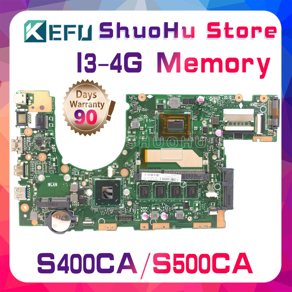 все цены на KEFU For ASUS S400CA S500CA S400C S500C I3 4G Memory laptop motherboard tested 100% work original mainboard онлайн