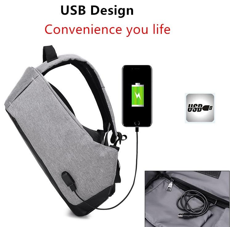 Multifunction USB charging Men Laptop Backpacks For Teenager School Bag Mochila Male Leisure Travel backpack anti thief Gym Bags